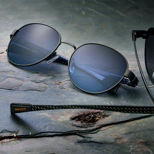 Breed Volta Gunmetal Carbon Fiber Sunglasses