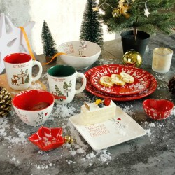 Joyye圣诞麋鹿森林餐具套装
