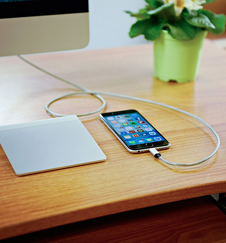 Armour ChargeStainless Steel iPhone Lightning Cable