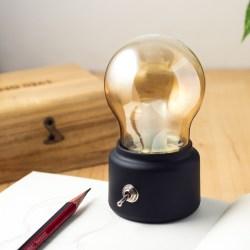 复古可充电LED小夜灯