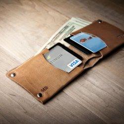 Minimal Leather Wallet by Mr. Lentz
