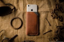 Leather iPhone 7 case wallet with cardholder