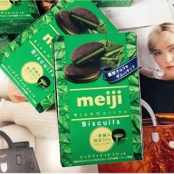 日本明治Meiji抹茶夹心饼干