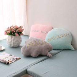 日式创意对话框午睡抱枕