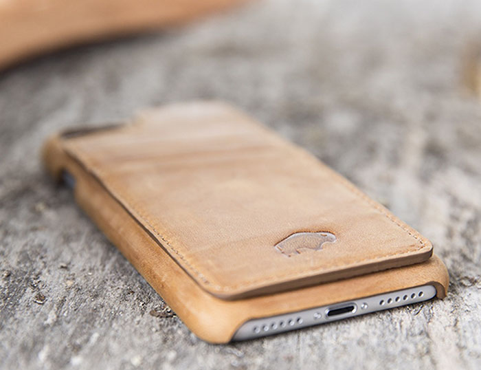 Burkley Ultimate Snap-on Stand Case for Apple iPhone 7 PLUS in Antique Camel Leather