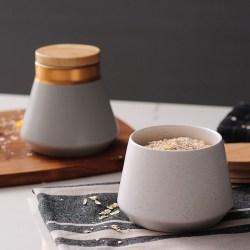 欧式乡村复古贴花陶瓷收纳罐