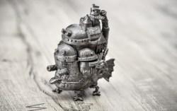 日本动漫宫崎骏哈尔的移动城堡金属模型
