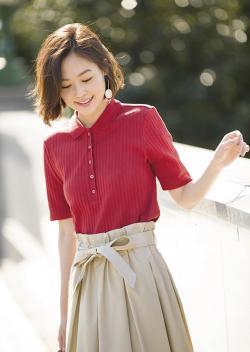 Uniqlo/优衣库 193086 罗纹女士POLO衫(短袖)