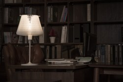 D'LIGHT Kinetic Table Lamp with a Transformable Lampshade