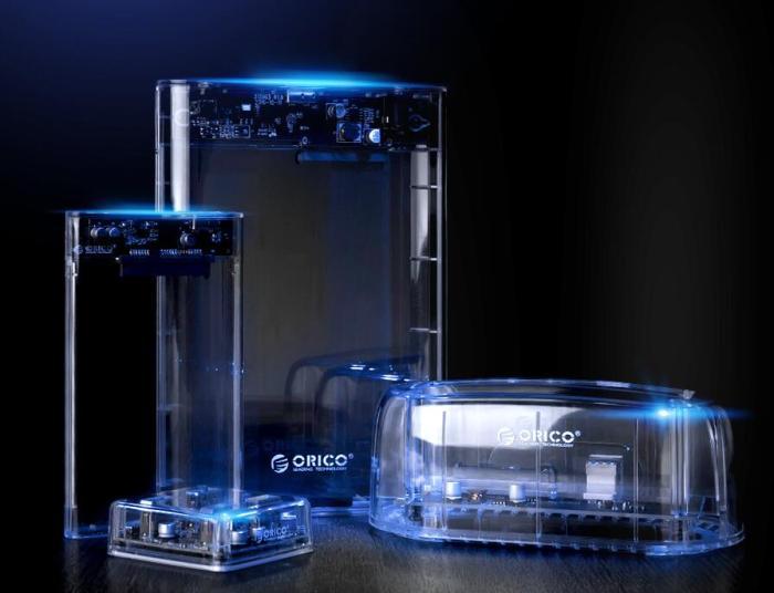 Orico/奥睿科 USB3.0外置2.5英寸硬盘盒子,裸妆出境透明设计