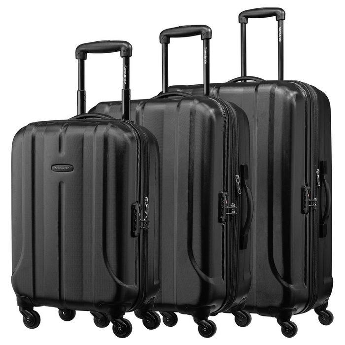 Samsonite 新秀丽 FLOREN系列 万向轮四轮拉杆箱 BQ1*09004 黑色 20寸+24寸+28寸 三件套