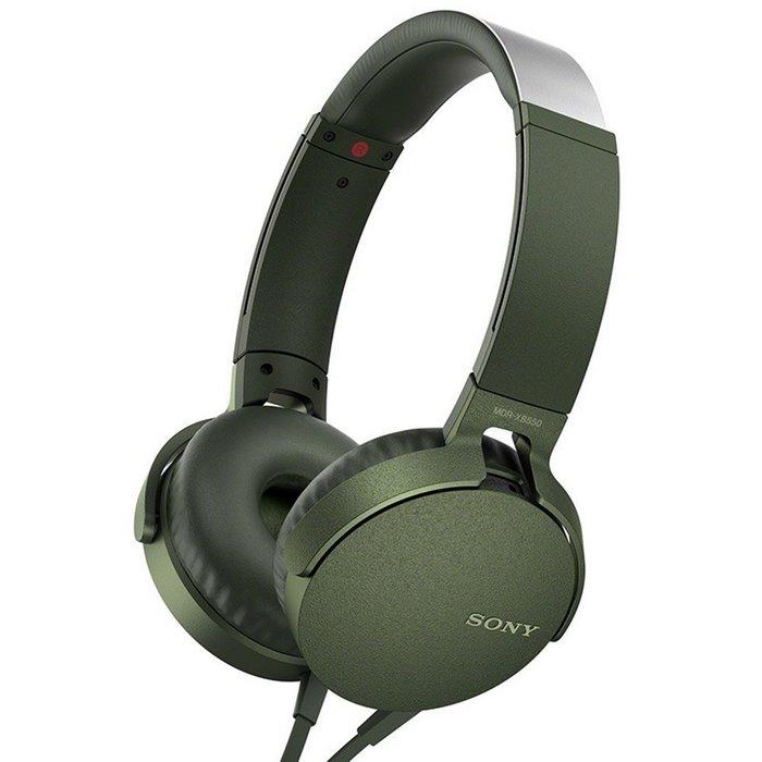 Sony索尼 MDR-XB550APGCCN 头戴式耳机,线控通话佩戴舒适