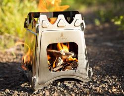 WoodFlame Ultra Lightweight Portable Wood Burning Camping Stove by kampMATE