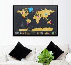 TravelScratcher Scratch-Off World Map