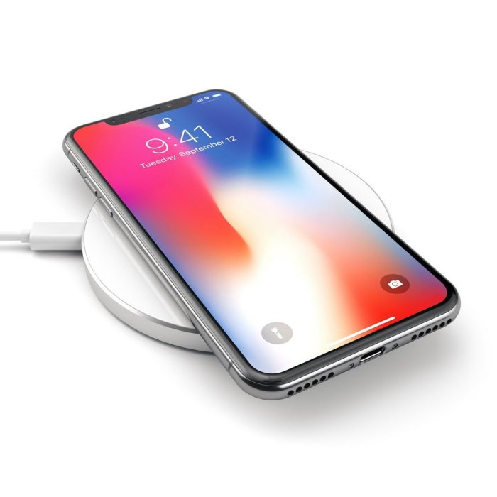 Satechi Aluminum Wireless Charger Pad Wirelessly Charge Your Qi-enabled Smartphones