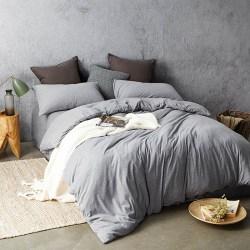 网易严选,全棉针织纯色床上四件套,针织棉裸睡0束缚