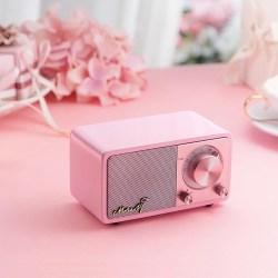 山进SANGEAN 莫扎特MOZART 邂逅粉色收音机,便携无线蓝牙音箱
