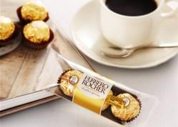 费列罗/FERRERO ROCHER榛果威化巧克力,48粒礼盒装情人节礼物