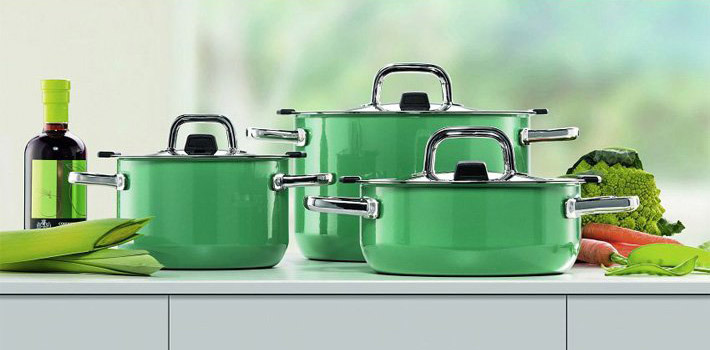 Silit 喜力特 Nature colours奈彩米系列希拉钢汤锅炖锅4件套