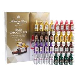 AnthonBerg爱顿博格 丹麦酒心巧克力礼盒 64 粒,8种世界名酒巧克力