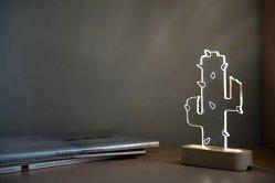 SturlesiDesign Modern concrete cactus lamp