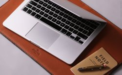 Harber London Leather Desk Mat For macbook