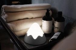 MUID 雪山灯 led 智能声光控触摸硅胶小夜灯,趣味挤压开关