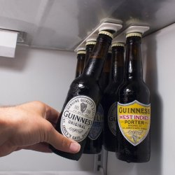 BottleLoft magnetic bottle hanger for your refrigerator