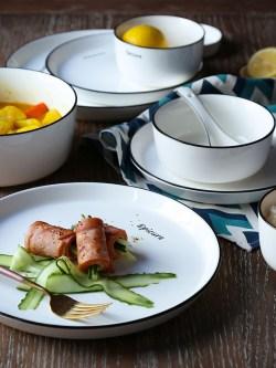 欧式Ins风格简约,4人家用陶瓷碗碟套装