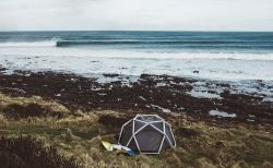 The Cave Inflatable Tent and Pump by Heimplanet