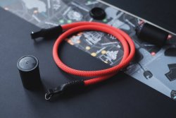 Camera Strap From Red Climbing Rope By FjordProject