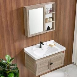 DKNA丹拿卫浴 浴室柜镜柜组合套装,浴室柜+镜柜+面盆 800mm