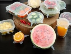 米选硅胶保鲜盖,家用食品级多功能拉伸