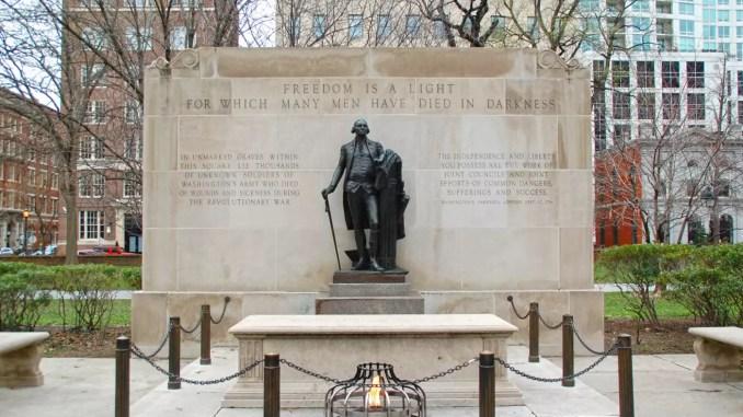Grab des unbekannten Soldaten in Philadelphia