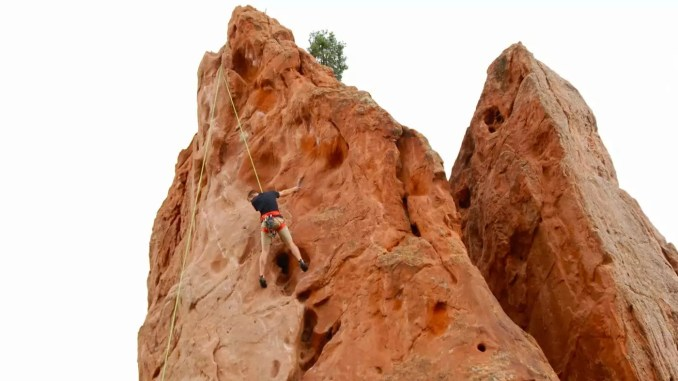 "Klettern im ""Garden of Gods"" in Colorado"