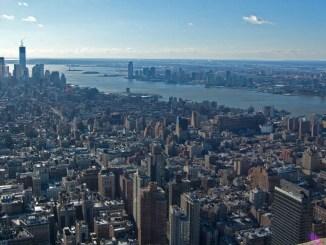 Ausblick über New York City