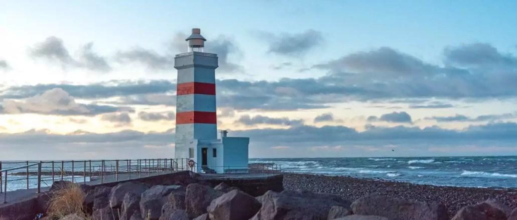 Leuchtturm Garður auf Reykjanes
