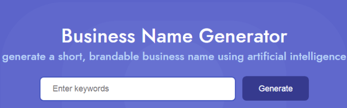 Business Name Ideas & Generator