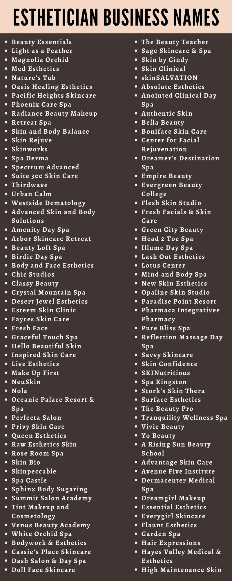17 Catchy Esthetician Business Names Ideas and Suggestions