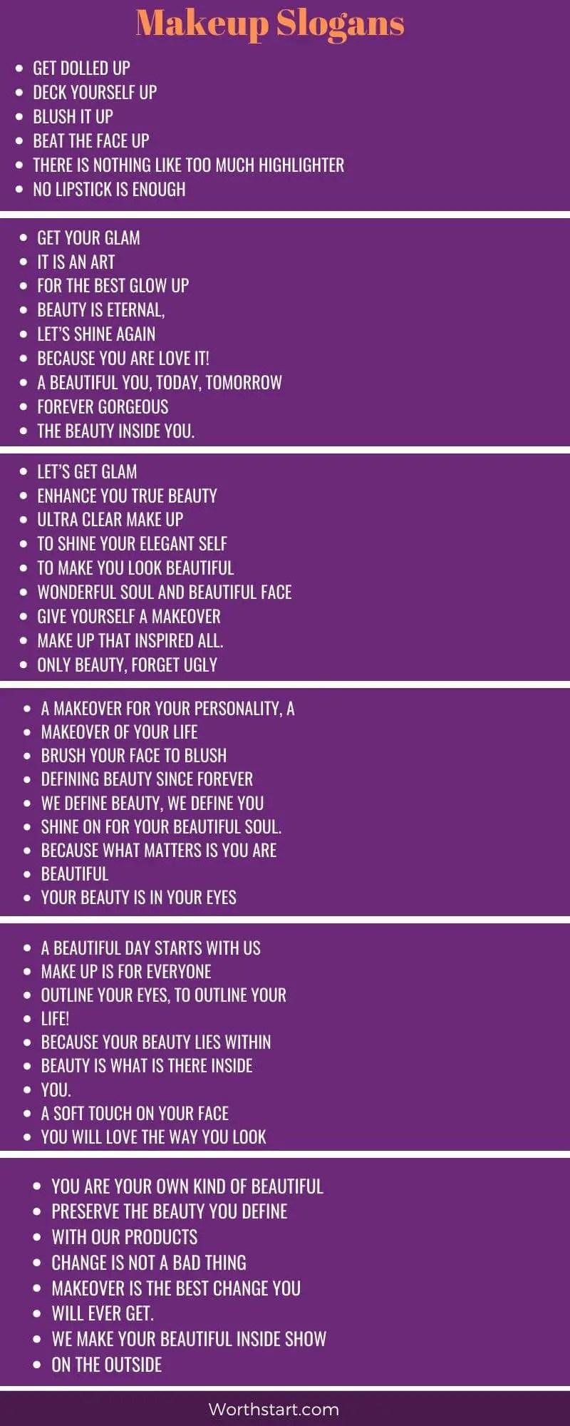 Makeup Slogans: 15+ Best Makeup Artist Slogans and Taglines