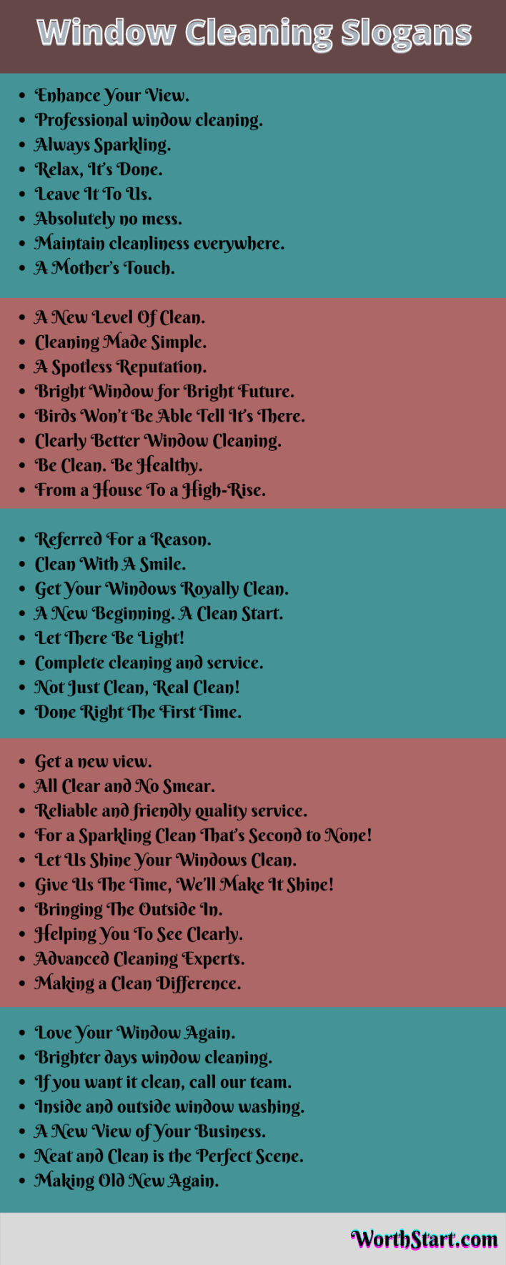 Window Cleaning Slogans