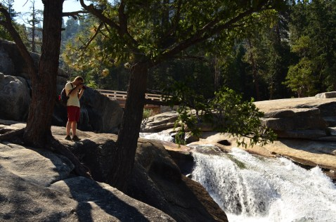 On the edge of Nevada Falls