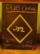 The weekly pub crawl, an excellent opportunity to meet other WHV folks