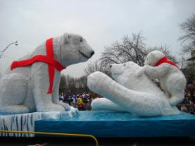 A float in the Santa Parade