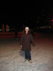 Harborfront Skating at the beginning of the season in rental skates