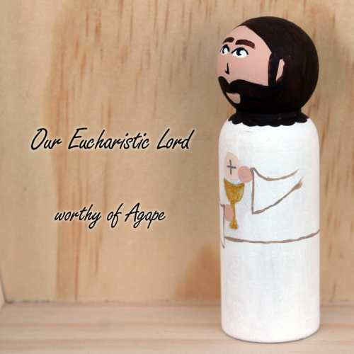 Jesus First Communion Peg Doll side angle