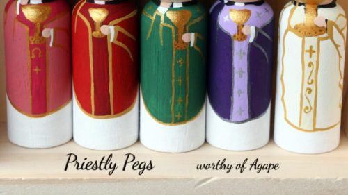 Priestly Pegs full set vestments only
