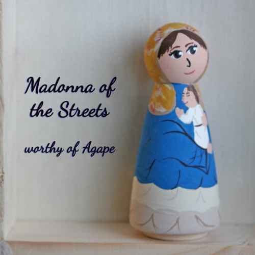 Madonna of the Streets peg doll
