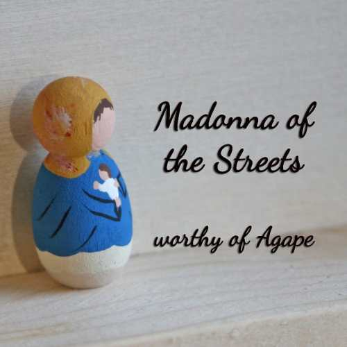 Madonna of the Streets keychain