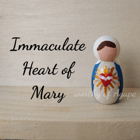 Immaculate Heart keychain